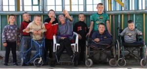 The Boys at the Happy Home in Kalinovka orphanage.